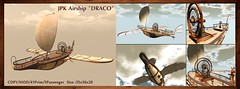 "**JPK Airshp ""DRACO"" (hekirekika2017) Tags: secondlife airship ship fantasy draco sky steampunk jpk"