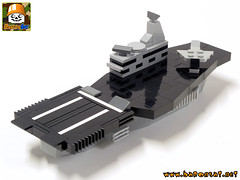 AIRCRAFT CARRIER 01 (baronsat) Tags: lego model custom moc military ww2 world war toy diorama playset micro japan pacific allies armored gun cannon us aircraft carrier