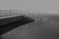 Staircase of Still (JamCanSing) Tags: staircase water reservoir blackandwhite monochrome longexposure infrared kolarivision bnw sony sonyalphaprofessionals minimalist minimalism singapore reflection