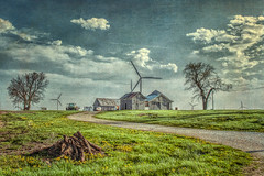 A winding road (David DeCamp) Tags: rural nature old farm landscape barn shed grass sky agriculture tree rustic field texture nikond300