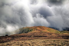 Just another cloudy walk (OutdoorMonkey) Tags: cloud sky skies cloudy fog mist lowcloud weather hill hillside snowdonia wales waunoer mynyddceiswyn nationalpark outside outdoor countryside rural nature fence grassland moor moorland landscape
