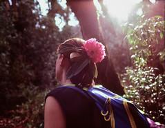 Flower in hair (suxarik) Tags: mamiya 645 6x45 120 645afd af sekor mamiyasekor mf medium mediumformat film expired e6 color fujifilm fuji velvia fujifilmvelvia100 rvp100 analog slide positive scanned imacon imaconflextightphoto nepal asia trekking