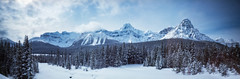 A larger than usual slice of heaven (Zeb Andrews) Tags: realitysosubtle141 pinhole lensless film pano 6x17 canadianrockies canada filmisnotdead alberta banff mountains kodakektar100 outtheresomewhere panorama scannedatbluemooncamera kodakhr500