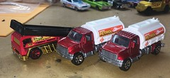 3 trucks to make 1 (Weapon_X_Wolverine) Tags: hotwheels matchbox customhotwheels customdiecast diecastcar diecasttruck fueltruck backslider mattel