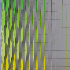 Nature Reveiled (Paul Brouns) Tags: architecture architectuur architektur geometry geometric groningen pattern urban patterns green yellow repetition square waves rectangles development transformation