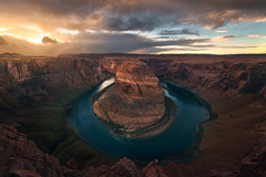 Around the River Bend (mattymeis) Tags: nikon rrs arizona horsehoe bend navajo winter colorado plateau canyon sunset