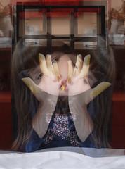 """Spaghetti Monster. Her Holy Noodliness Lotti tasting if the noodles are cooked well: """"3 minutes longer"""" Ihre heilige Nudeligkeit Lottchen kostet vor: """"noch drei Minuten"""" Nudeln zum Anknabbern, kein Fetisch. Das Blümchen-Pferd am T-Shirt wurde zum Frosch (hedbavny) Tags: absurdity absurdität absurd satire aktion spaghettimonster aktionismus privilegien gleichbehandlung gleichberechtigung atheismus agnostizismus säkulär säkularismus saecularism laizismus humanismus lotti lottchen easter ostern spring frühling nudel pasta noodles finger hand handwerk spielen play game holz wood ebenholz schwarz black sessel chair frame rahmen bild painting schale cup keramik blume flower blühen verblühen trockenblume frosch frog pferd horse square quadrat girl mädchen frau woman kid kind kleinkind spiegel mirror spiegelung reflection wien vienna austria österreich hedbavny ingridhedbavny"""