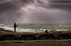 The fisherman of  clouds (swaily ◘ Claudio Parente) Tags: d300 swaily nikon fisherman pescatore nuvole clouds claudioparente maremma mare sea
