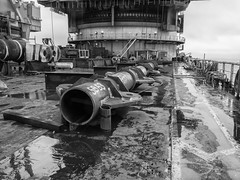 Fabrication (thulobaba) Tags: offshore construction engineering fabrication lifting welding pipe tubular steel spreader bar heavy padeye deck