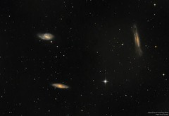 Triplete de Leo (ACHAYA - Astrofotografías) Tags: triplete de leo m65 m66 ngc3628 observatorio pochoco achaya