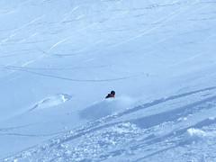 Dave's powder fan (Ruth and Dave) Tags: dave snowboarder whistler flute whistlermountain whistlerblackcomb symphonyamphitheatre powder powderfan turning snowboarding powderday mountain skiresort offpiste