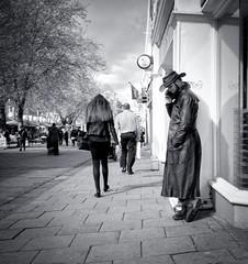 116/365 City Cowboy (denise.ferley) Tags: norwich city citylife candid cowboy maninblack hat streetphotography street sonynex5 peoplewatching people pavement england 365 3652017 uk urban bw blackandwhitephotography life