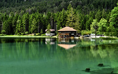 Lago di Tobbiaco (Pitamek) Tags: lake water reflections landscape dolomites
