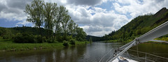 Boating on Vltava (iris.f) Tags: nature river boat sailing boating recreation vltava