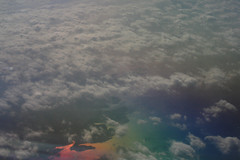 Rainbow Water (AmberDL2) Tags: sky eye water birds plane river airplane landscape flying view land scape