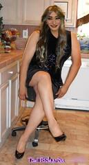 Random Mid-Week Pic (Veronica Mendes (formerly Toni Richards)) Tags: black cute sexy tv long dress transformation legs cd adorable makeup crossdressing tgirl transgender wig transvestite toni ecstasy lipstick euphoria lovely richards transgendered crossdresser ts tg stilettos lbd patent mtf travesti transgirl transwoman tonirichards