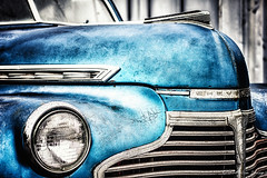 Cool as Ice (Convicted Melon) Tags: old blue favorite chevrolet car canon vintage silver grit 50mm spring cool glow steel deluxe awesome rusty retro grill fave chevy chrome crusty canon50mmf14 2013