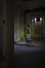 Layers Psychiatric Hospital (katherinecaprio) Tags: abandoned chair child decay adventure explore urbanexploration vacant derelict ue psychiatrichospital urbex abandonedhospital