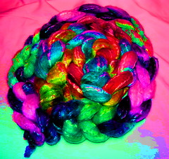 Angel Ice Queen Fibre Club May 2013 TEASER (ixchelbunny) Tags: club yarn fiber tops fibre ixchel ixchelbunny