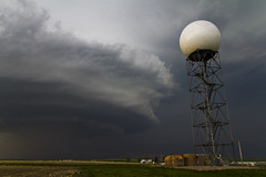 Rapid City doppler radar and a supercell (unripegreenbanana) Tags: usa southdakota