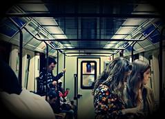 """""""Nadie tiene algo que decir y nadie quiere saber nada."""" (Lucas Puntossuspensivos.) Tags: madrid people underground gente metro personas persons vagn madriz"""