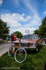 1978 AMC Matador Station Wagon with matching Schwinn (engineerd) Tags: amc matador greenfieldvillagemotormuster2013