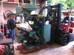 Installing a Bridgeport Milling Machine at Ballard Machine Works (ballardmachineworks) Tags: seattle metal shop parts cam labor machine workshop machined tooled