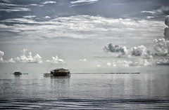 processed fish house (beckstei) Tags: houses sea sky house fish seascape gulfofmexico clouds florida calm hudson tarponsprings oceanscape landdscape