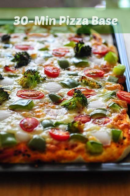 Quick Easy Pizza Crust Recipe 30 Min Pizza Dough From Scratch