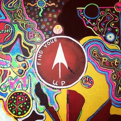 Find Your Direction — Up (Mega Rutabaga) Tags: 1969 painting neon trippy flowerpower yeahright peaceandlove blacklightart summerof1969 hippieart iphoneography