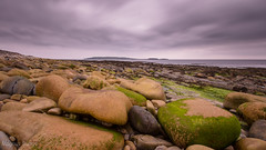 Aikerskaill Beach (MBDGE) Tags: sky cloud seascape seaweed green clouds contrast canon landscape scotland sand scenery exposure waves cloudy dramatic nd dramaticsky deerness copinsay canon650d