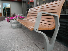 Calgary HBM Series (Mr. Happy Face - Peace :)) Tags: wood friends canada calgary smile landscape design walks metallic seat wroughtiron explore alberta environment rest seating parkbench citycenter pathway streetscapes urbanlandscape urbanlife cowtown environmentaldesign hbm benched urbanstreetscape happybenchmonday
