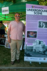 """plym-lgbt-archive-2-pride-2013<br /><span style=""""font-size:0.8em;"""">Our Archive coordinator and co-organiser of Pride in the Park. Proudly promoting the Plymouth LGBT Archive at Pride in the Park 2013.</span> • <a style=""""font-size:0.8em;"""" href=""""https://www.flickr.com/photos/66700933@N06/9374201104/"""" target=""""_blank"""">View on Flickr</a>"""