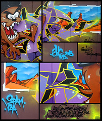 2013-gnarf-mixupnet (BROK 3HC-TNB) Tags: street paris art graffiti spam bad graff spraycan tnb brok vba vitry 2013 3hc