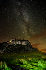 The Milky Way above Lindisfarne (solidtext) Tags: old longexposure tower way stars island nikon exposure nightlights nightshot ruin holy northumberland nightscene milky f28 lindisfarne priory milkyway noctography tokina1116f28 nikond7000 noctographist