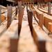 Gelagertes Holz