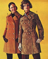 Pennys 71 fw suede coats (jsbuttons) Tags: winter leather fashion vintage 1971 clothing buttons coat clothes gloves button 70s catalog coats seventies suede fashions jcpenny vintageclothing doublebreasted