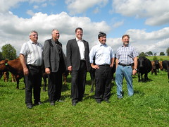Michael visits a farm in Hillsburgh to announce more than $1 million in federal funding for beef genetics science and innovation