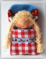 Mini in sleeping bag (immertreu-dolls) Tags: toy doll child handmade waldorf fabric organic steiner anthroposophy waldorfdoll clothdoll anthroposophie waldorfpdagogik stoffpuppe waldorfeducation waldorftoy kuschelpuppe waldorfpedagogy waldorferziehung immertreu