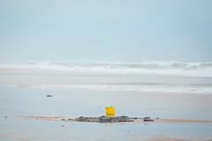 Bucket list... (Niki van Velden) Tags: ocean sea beach yellow bucket sand indianocean durban umhlanga nikivanvelden