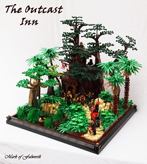 CCCXI The Outcast Inn (Mark of Falworth) Tags: trees castle lego secret contest scene creation ccc outlaw hideout lcc moc cccxi