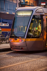 Evening LUAS (PressVault.com) Tags: ireland dublin tram cobbled rails ie alstom luas sreet fingal citadis 4003 hpulling
