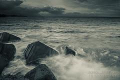 Mare in tempesta (Andrea Rapisarda) Tags: longexposure seascape storm monochrome clouds nikon mare waves wind horizon tripod porto sicily sicilia onde d800 tempesta orizzonte bienne pozzillo allrightsreserved nikon2470mmf28
