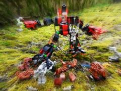 lego cyber wars (3) (peter-ray) Tags: robot war lego battle gundam android mecha cyber mech hardsuit shifi guntank