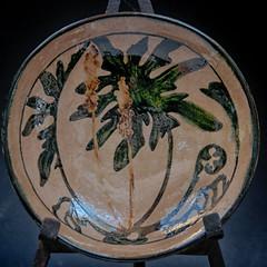 James Deane Pottery Plate 1930s (David McCudden) Tags: fern watercolor botanical tuberousbegonias jamesdeane westlongbranchnewjersey