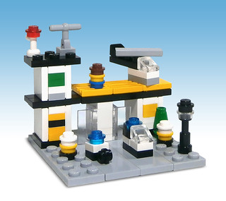 LEGO 381: Police Headquarters, in micro scale