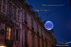 Bonne Année 2014 ! / Happy New Year ! (patoche21) Tags: christmas street xmas light france architecture 50mm nikon dijon 21 burgundy illumination noel noël rue bourgogne urbain côtedor d700 capturenx2 patrickbouchenard potd:country=fr