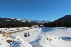 The Trans canada highway and Junction 93 near Banff time to head home after a great day out. (davebloggs007) Tags: park canada way high junction national banff trans 93
