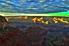 Grand Canyon - Grand Canyon National Park - Arizona - 13 November 2013 (goatlockerguns) Tags: sunset arizona usa southwest west nature clouds america nationalpark desert natural grandcanyon unitedstatesofamerica scenic western hdr highdynamicrange