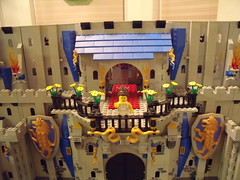 Castle 01-14 007 (Dursaflare) Tags: blue trees tree bird castle birds statue palms sand king dragon lego princess magic bricks royal statues grand prince dungeon palm queen knights huge knight shield sandcastle majestic mage princesses regal shields mega mages